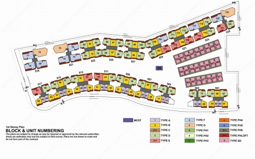 Archipelago Condominium Block & Unit Numbering - 1 Storey