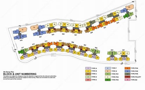 Archipelago Condominium Block & Unit Numbering - 5th Storey