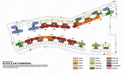 Archipelago Condominium Block & Unit Numbering - Attic Storey