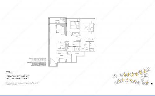 Archipelago Type B1 - 2 Bedroom Intermediate