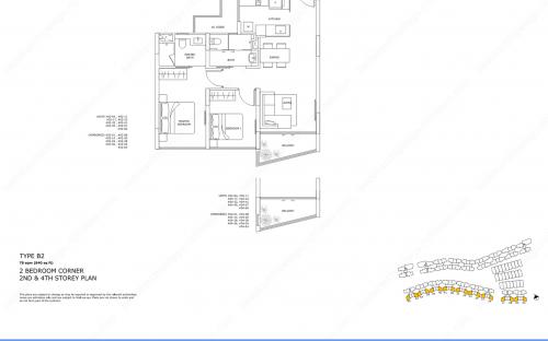 Archipelago Type B2 - 2 Bedroom Corner