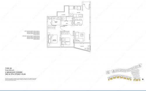 Archipelago Type B3 - 2 Bedroom Corner