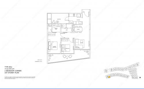 Archipelago Type BGc - 2 Bedroom Corner