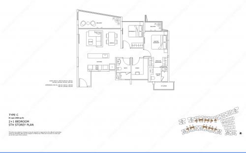 Archipelago Type C - 2+1 Bedroom