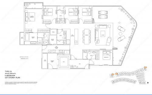 5 Bedroom Floor Plan   Singapore Bedok