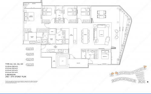 Archipelago Type G2, G3, G4, G5 - 5 Bedroom