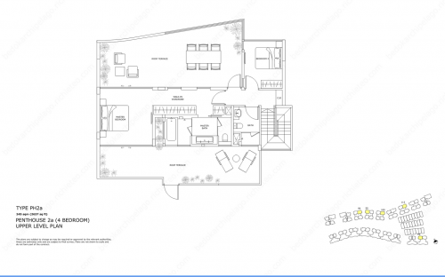 Archipelago Type PH2a - Penthouse 2a (4 Bedroom, Upper Level)