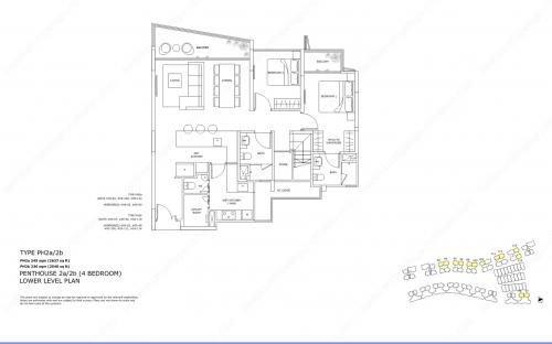 Archipelago Type PH2a/2b - Penthouse 2a/2b (4 Bedroom, Lower Level)