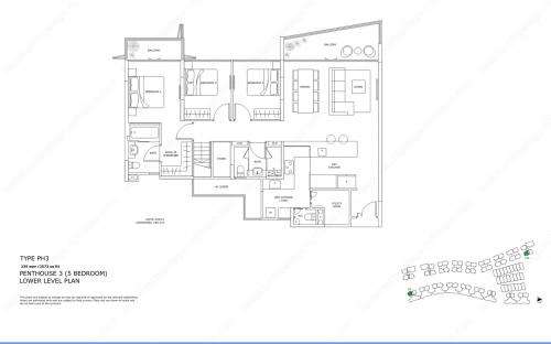 Archipelago Type PH3 - Penthouse 3 (5 Bedroom, Lower Level)