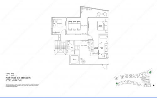 Archipelago Type PH3 - Penthouse 3 (5 Bedroom, Upper Level)