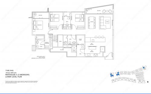 Archipelago Type PH5 - Penthouse 5 (5 Bedroom, Lower Level)
