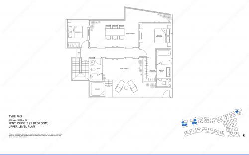 Archipelago Type PH5 - Penthouse 5 (5 Bedroom, Upper Level)
