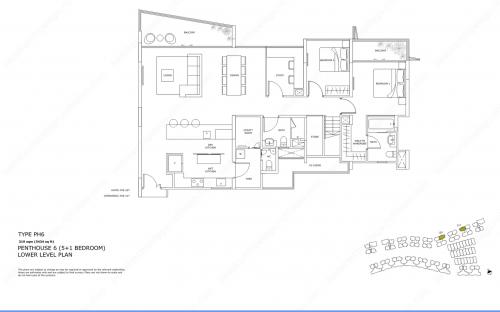 Archipelago Type PH6 - Penthouse 6 (5+1 Bedroom, Lower Level)