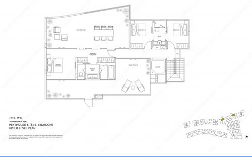 Archipelago Type PH6 - Penthouse 6 (5+1 Bedroom, Upper Level)